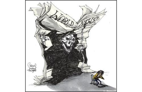 'World News' Aislin Illustration